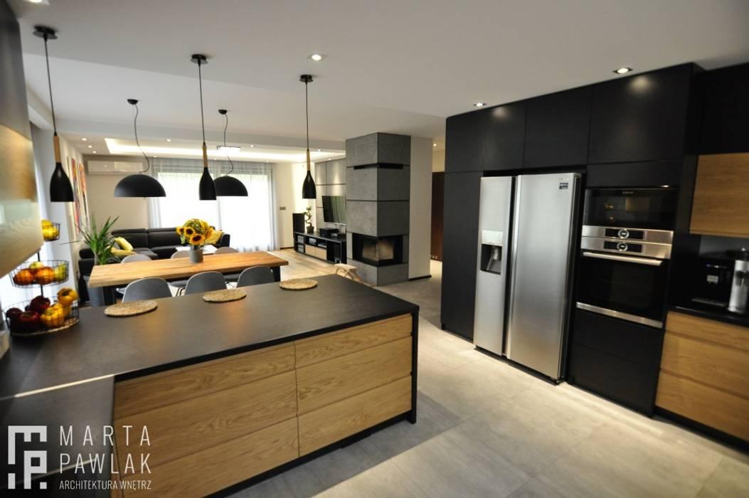 Dom Jednorodzinny Wisła - Realizacja: styl , w kategorii Kuchnia zaprojektowany przez MARTA PAWLAK  ARCHITEKTURA  WNĘTRZ,Industrialny
