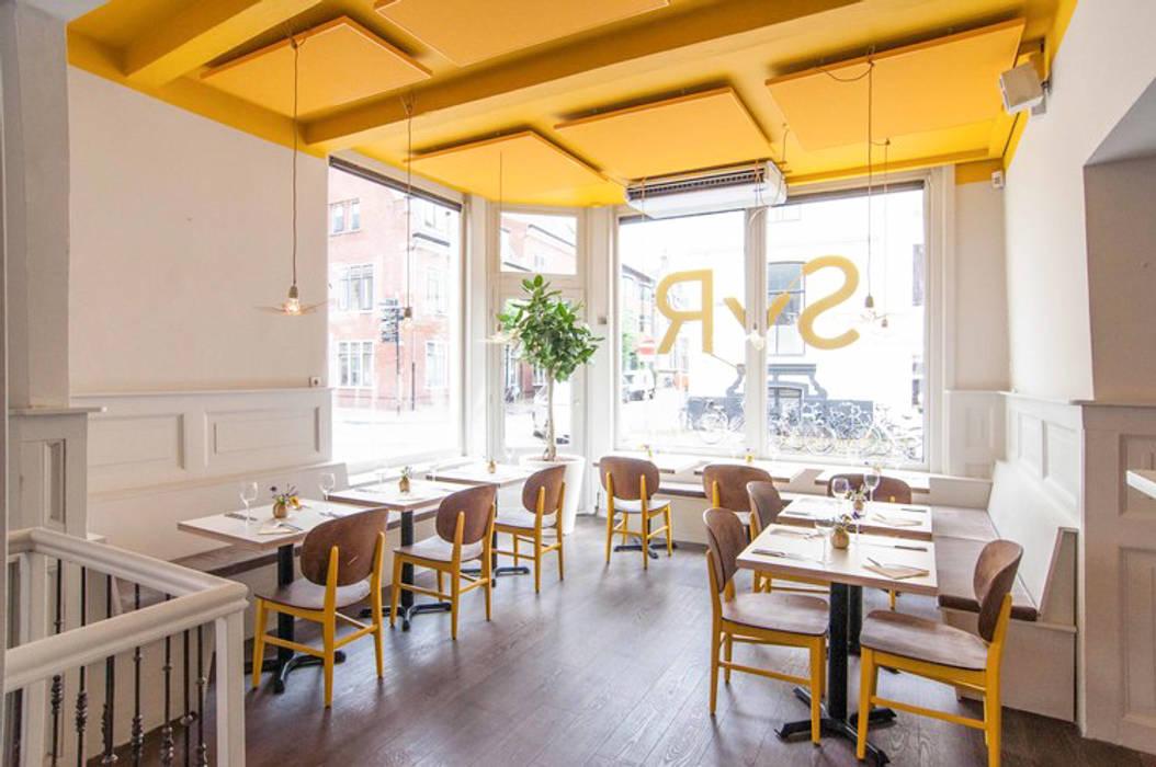 Restaurant syr is geschilderd met de kleuren ashes en yellow ...