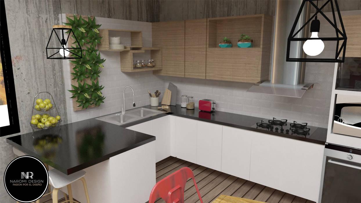 cocina industrial : Cocinas integrales de estilo  por Naromi  Design