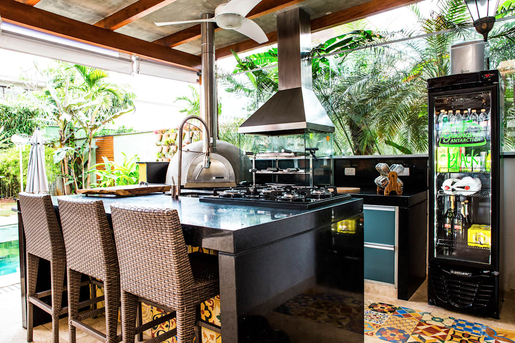 Balcon, Veranda & Terrasse tropicaux par VN Arquitetura Tropical