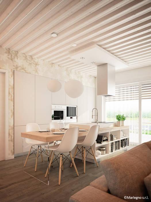 Appartamenti in legno - cucina: Cucina in stile  di Marlegno