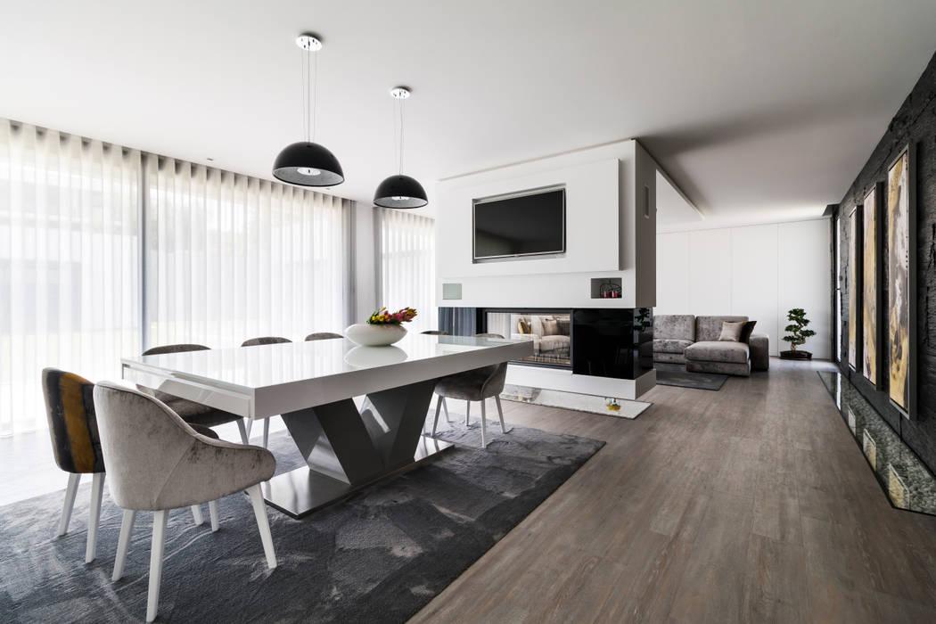 Sala de Jantar: Salas de jantar  por UNISSIMA Home Couture,Moderno