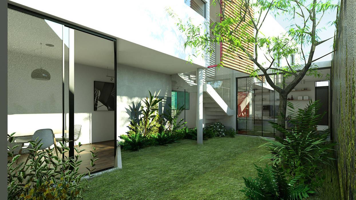 Jardim Interno por ODVO Arquitetura e Urbanismo Moderno