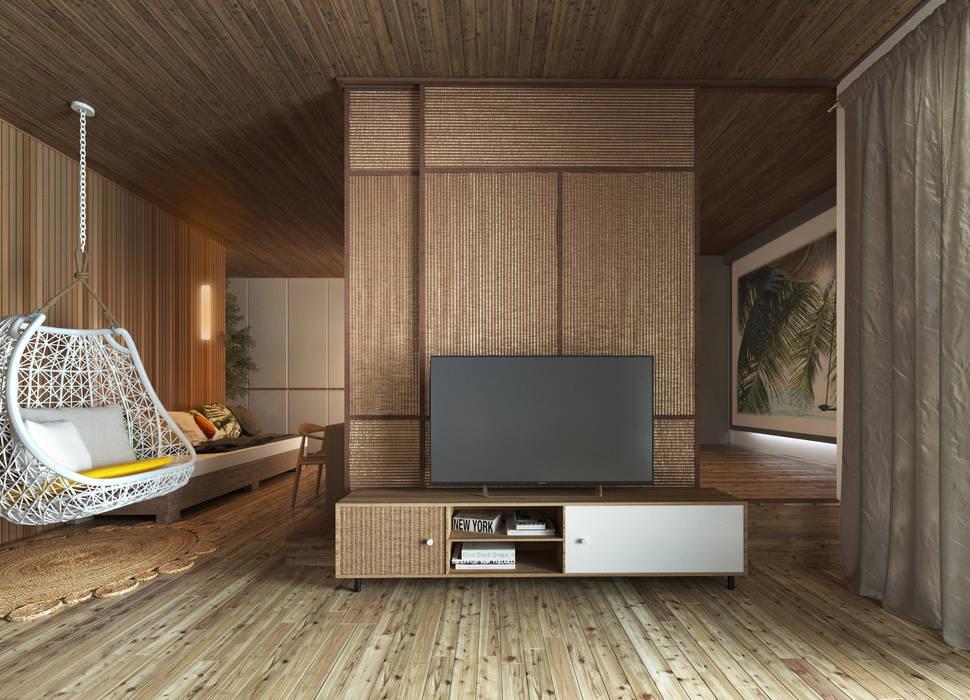 Salas modernas de BROS.studio Moderno