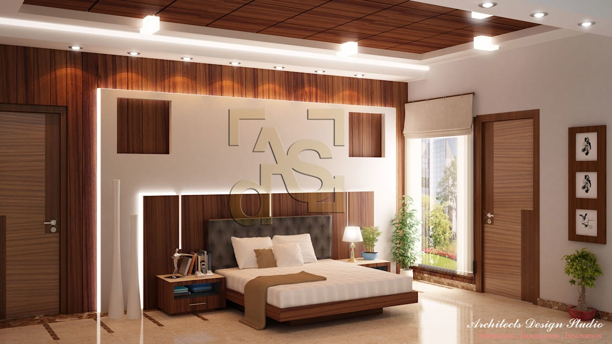 Bedroom Interior Design by Architects Design Studio Modern style bedroom by Architects Design Studio Architects and Interior Designers in Delhi Modern