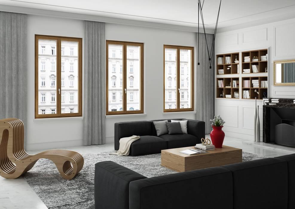 Oknoplast uPVC windows Wood-Plastic Composite Brown