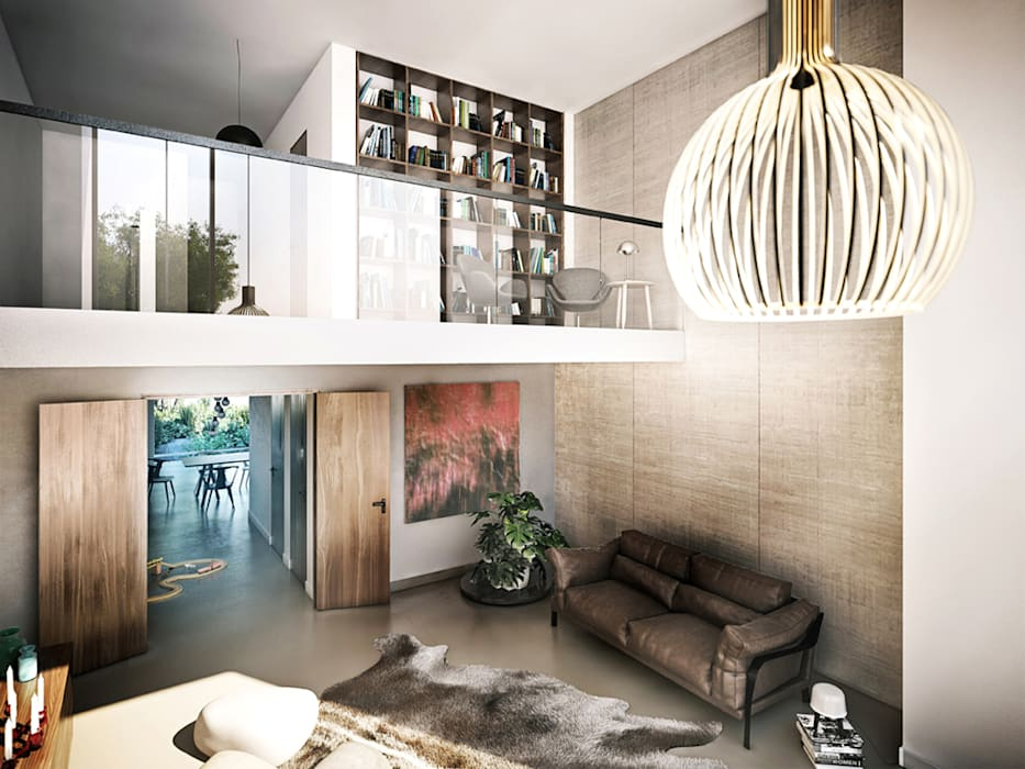 industrial Living room by JLL Residential Development