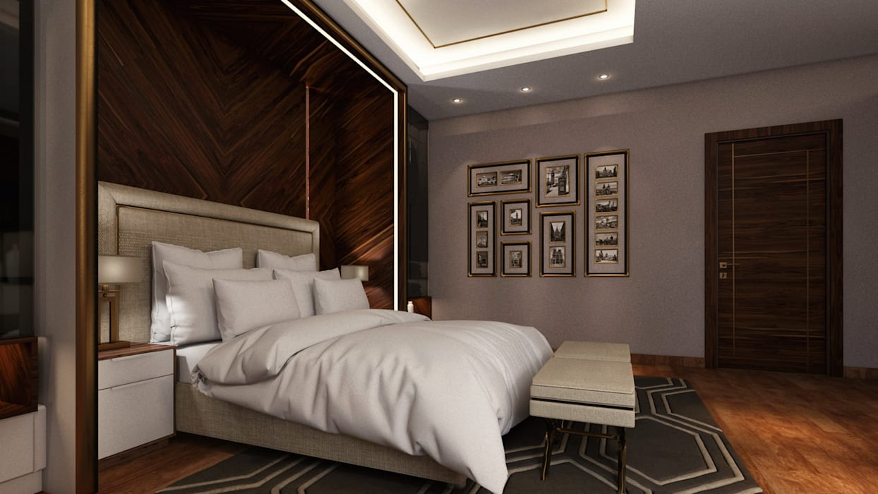 Private Villa - Royal Maxim Modern style bedroom by RDW Architects Modern