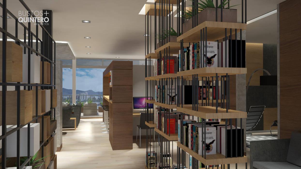 Biblioteca Estudios y despachos de estilo moderno de Bustos + Quintero arquitectos Moderno