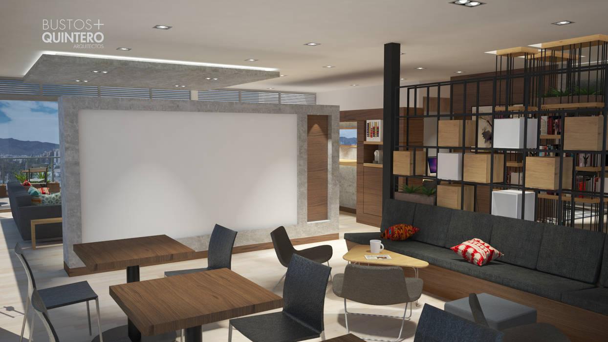 Lounge Estudios y despachos de estilo moderno de Bustos + Quintero arquitectos Moderno