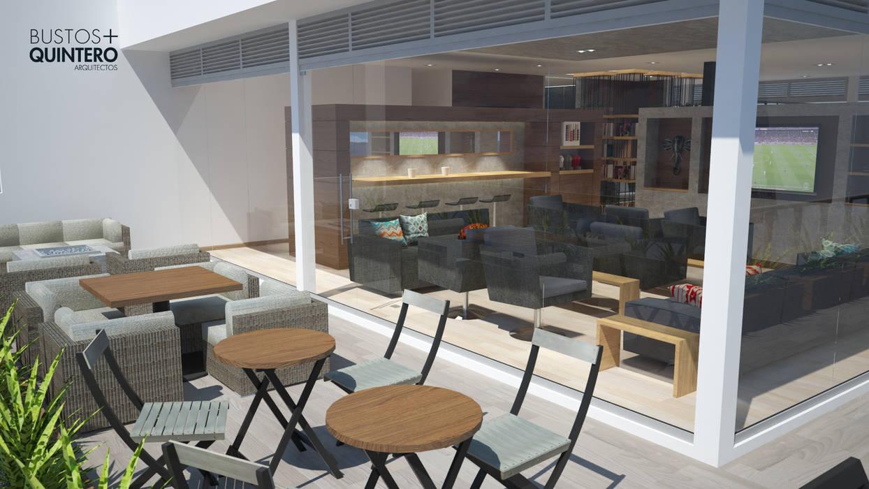 Terraza Balcones y terrazas de estilo moderno de Bustos + Quintero arquitectos Moderno