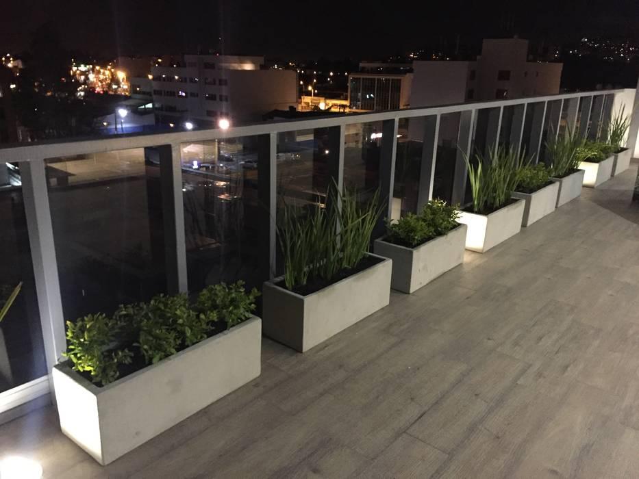 Terraza: Terrazas de estilo  por Bustos + Quintero arquitectos