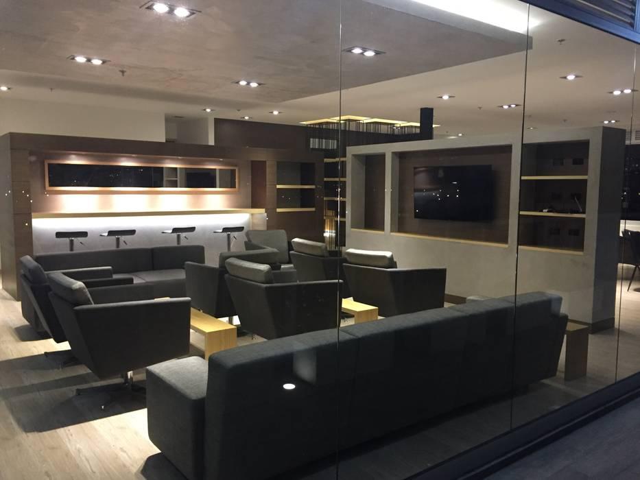 Sala tv - Punto de Cafe Salas modernas de Bustos + Quintero arquitectos Moderno