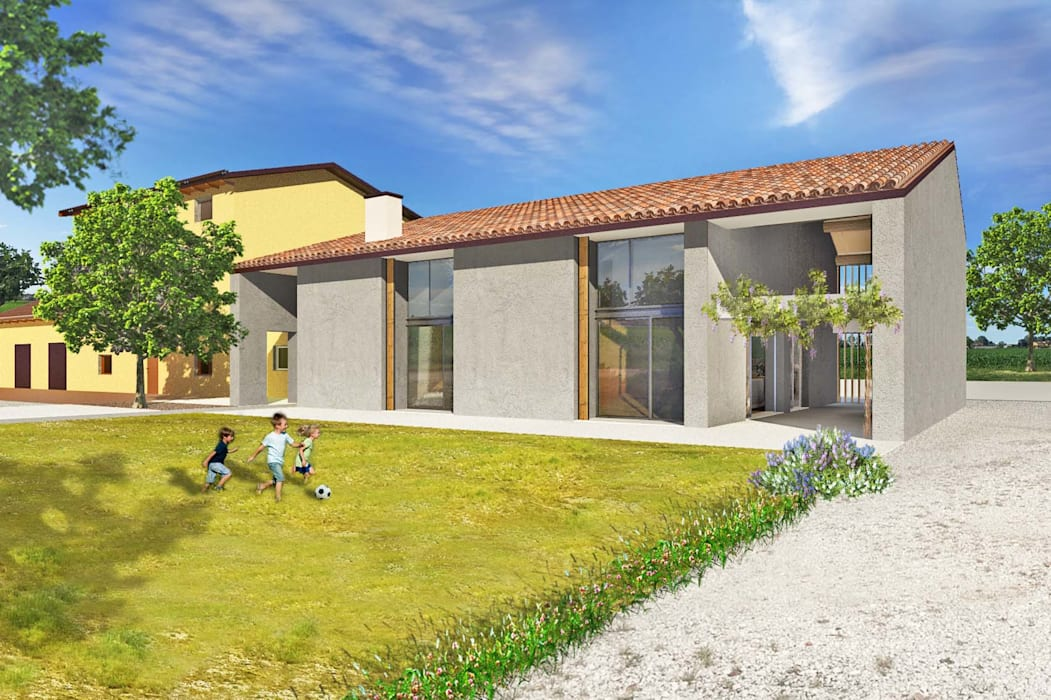 Ristrutturazione edificio rurale casa di campagna in stile di studio di architettura e - Ristrutturazione casa campagna ...