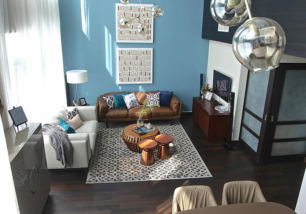Emaar Lofts Family House Livings de estilo ecléctico de Harf Noon Design Studio Ecléctico