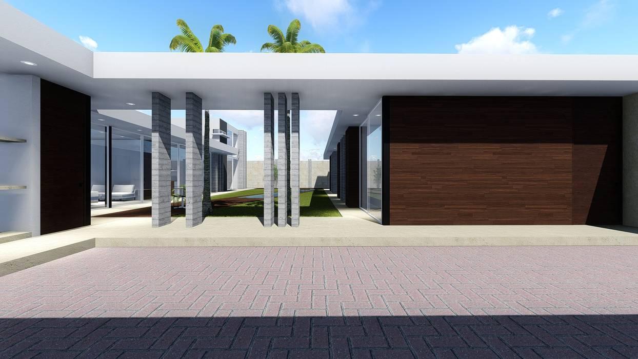 Garaje garajes abiertos de estilo por boca arquitectos for Viviendas estilo minimalista