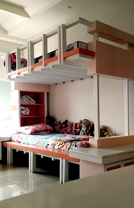 The Minaret House:  Bedroom by Chaukor Studio,Eclectic
