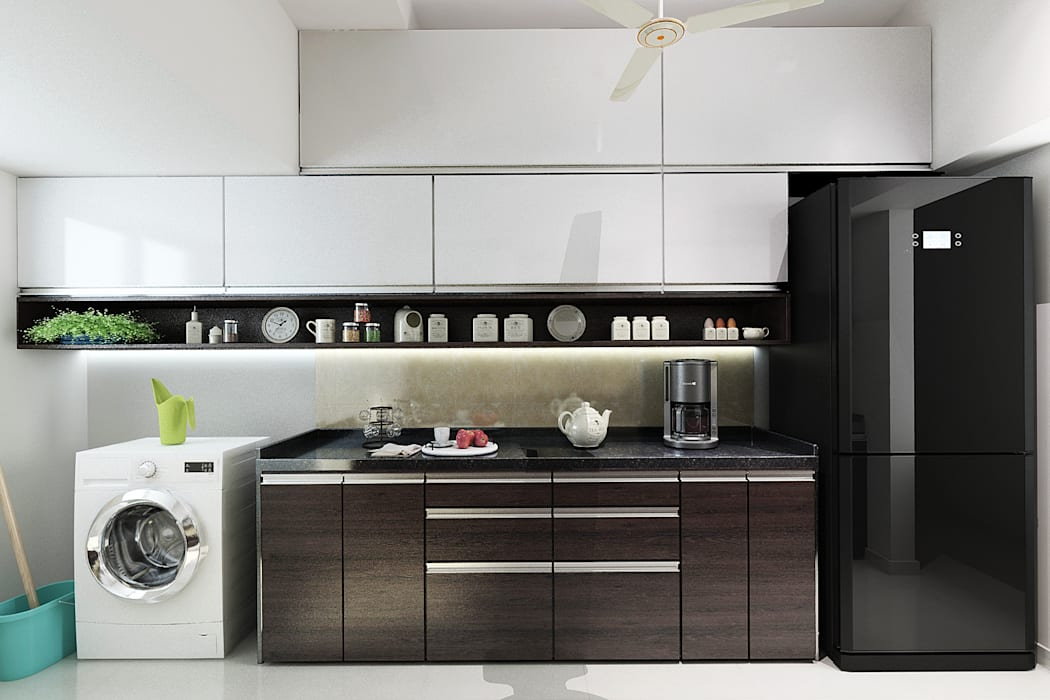 Modular kitchen:  Built-in kitchens by The inside stories - by Minal