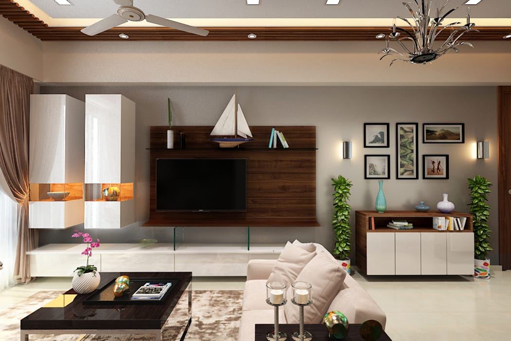 Living room:  Living room by The inside stories - by Minal