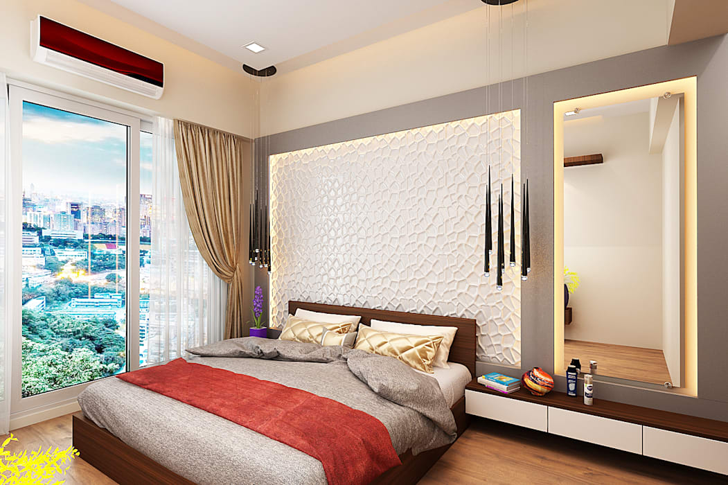 Master bedroom.:  Bedroom by The inside stories - by Minal