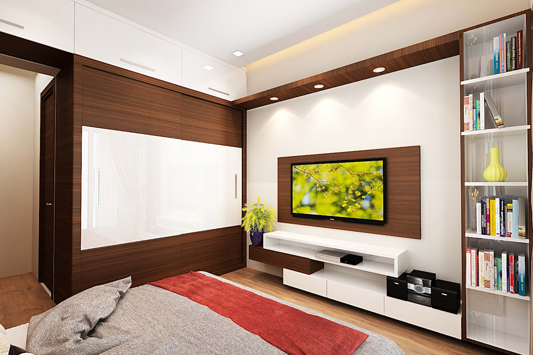 Master bedroom Modern style bedroom by The inside stories - by Minal Modern Plywood