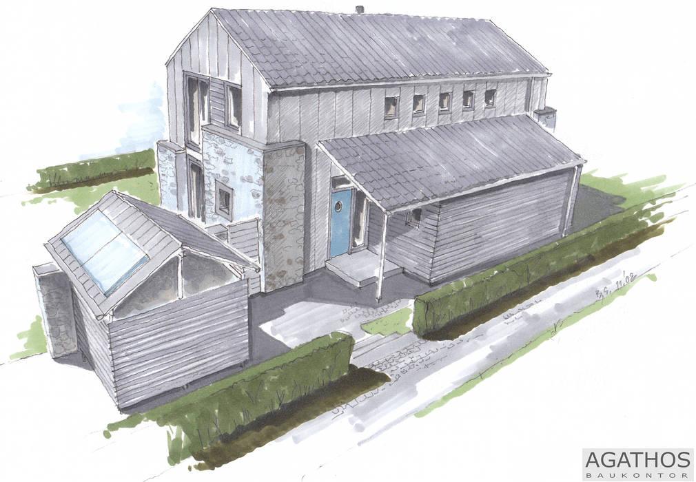 Neubau eines Einfamilienhauses Raeren/ Belgien: moderne Häuser von Architekturbüro Sutmann