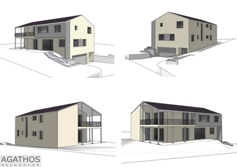 Zweifamilienhaus Raeren:  Garten von Architekturbüro Sutmann