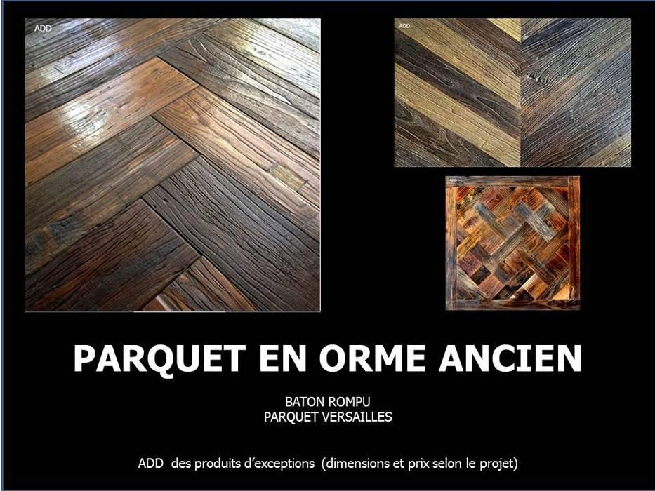 PARQUETS EN ORME ANCIEN: Murs de style  par ADD
