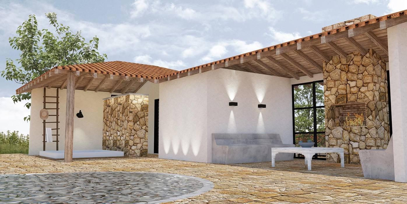 Spa by BICHO arquitectura Tropical Stone