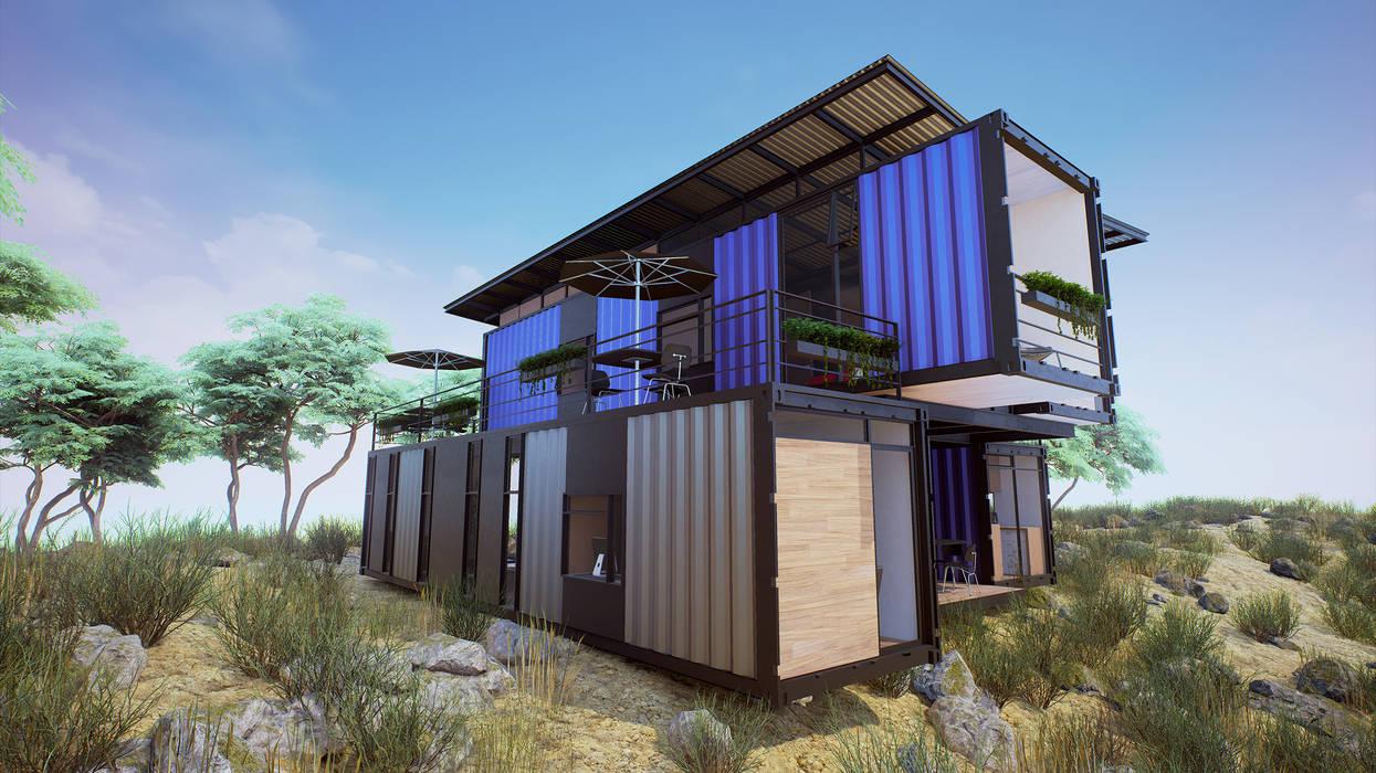 Exterior: Casas prefabricadas de estilo  por EnTRE+, Moderno