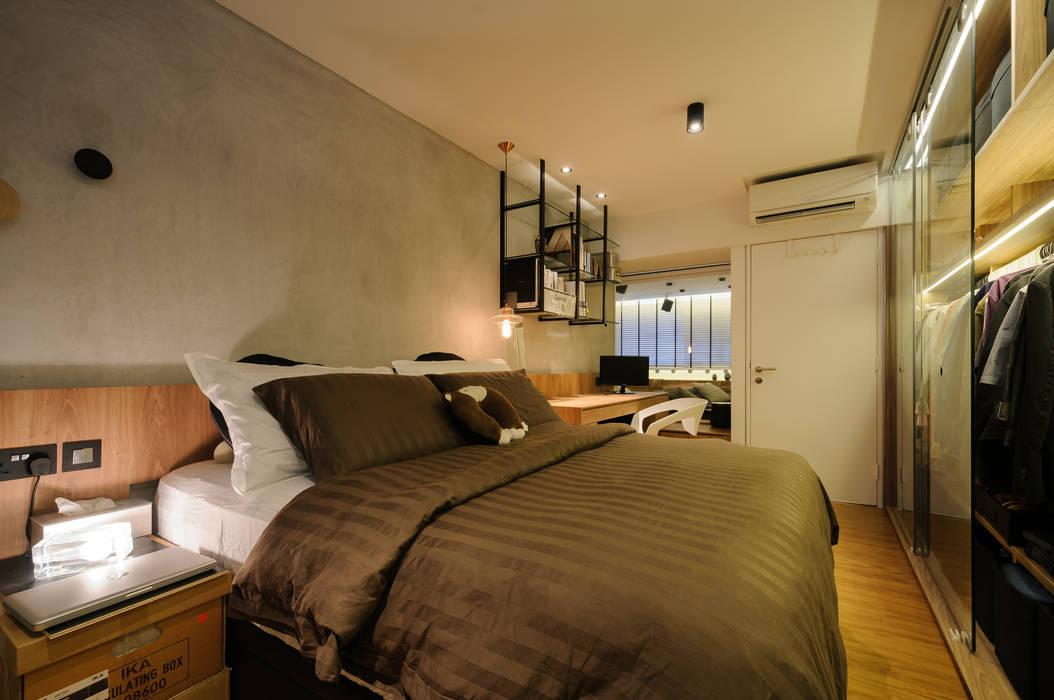Design & Build Project: Resale HDB Apt @ Serangoon Ave 3:  Bedroom by erstudio Pte Ltd,Scandinavian