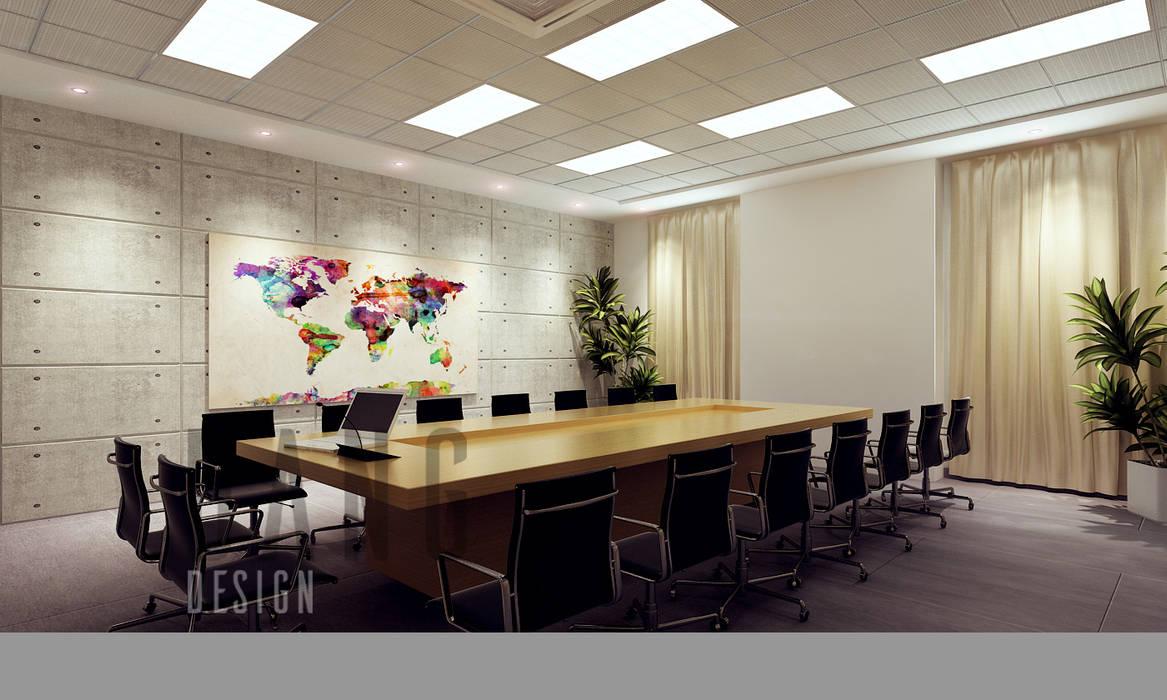 Phòng họp Phòng học/văn phòng phong cách châu Á bởi DCOR Châu Á