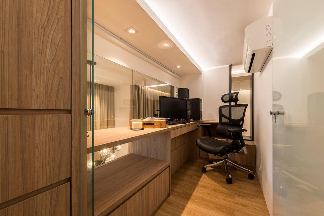 Design & Build: Condominium @ Eunos (Modern Scandinavian):  Study/office by erstudio Pte Ltd
