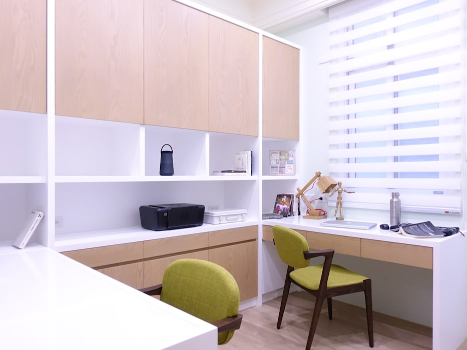 水木空間設計:  書房/辦公室 by 水木空間設計