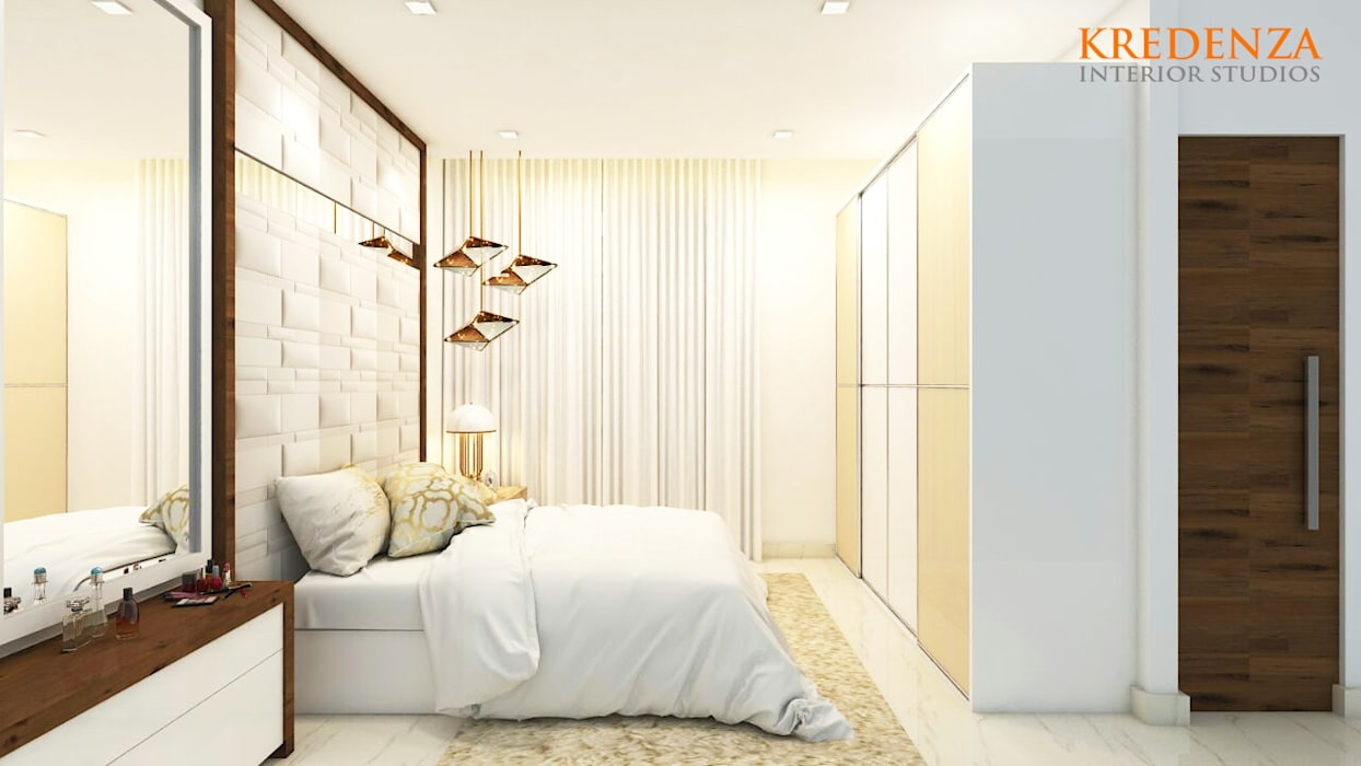 BEDROOM DESIGNS :  Bedroom by Kredenza Interior Studios