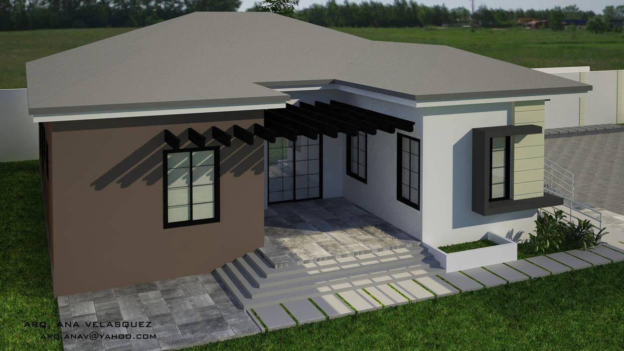 CASA EN EL TIGRITO, EDO ANZOATEGUI: Casas unifamiliares de estilo  por ESCENA VIRTUAL 3D ARQUITECTURA,