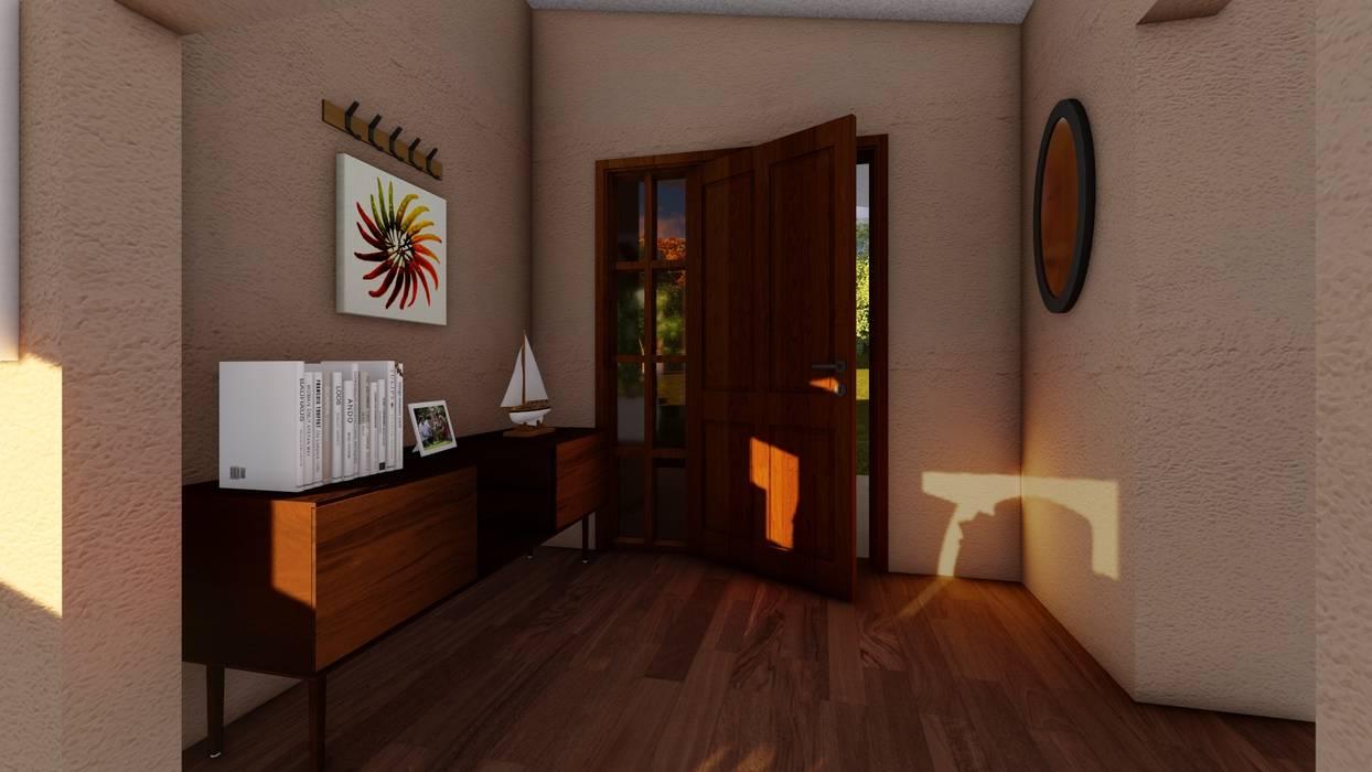 Hall de acceso: Pasillos y hall de entrada de estilo  por Atelier Arquitectura