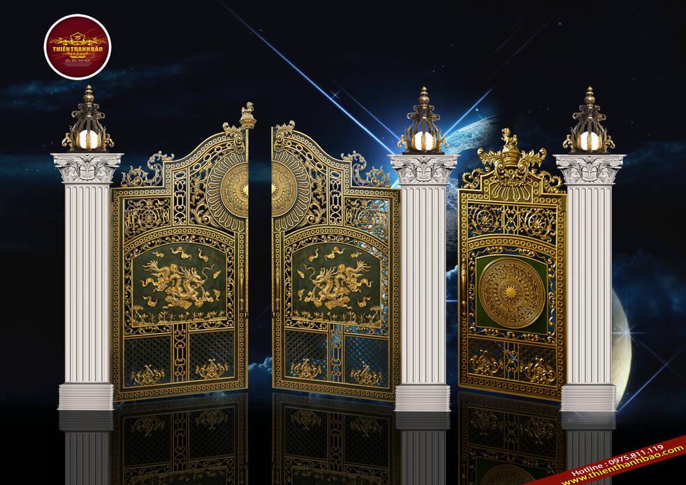 Cổng biệt thự song long:  Biệt thự by Cổng nhôm đúc Thiên Thanh Bảo