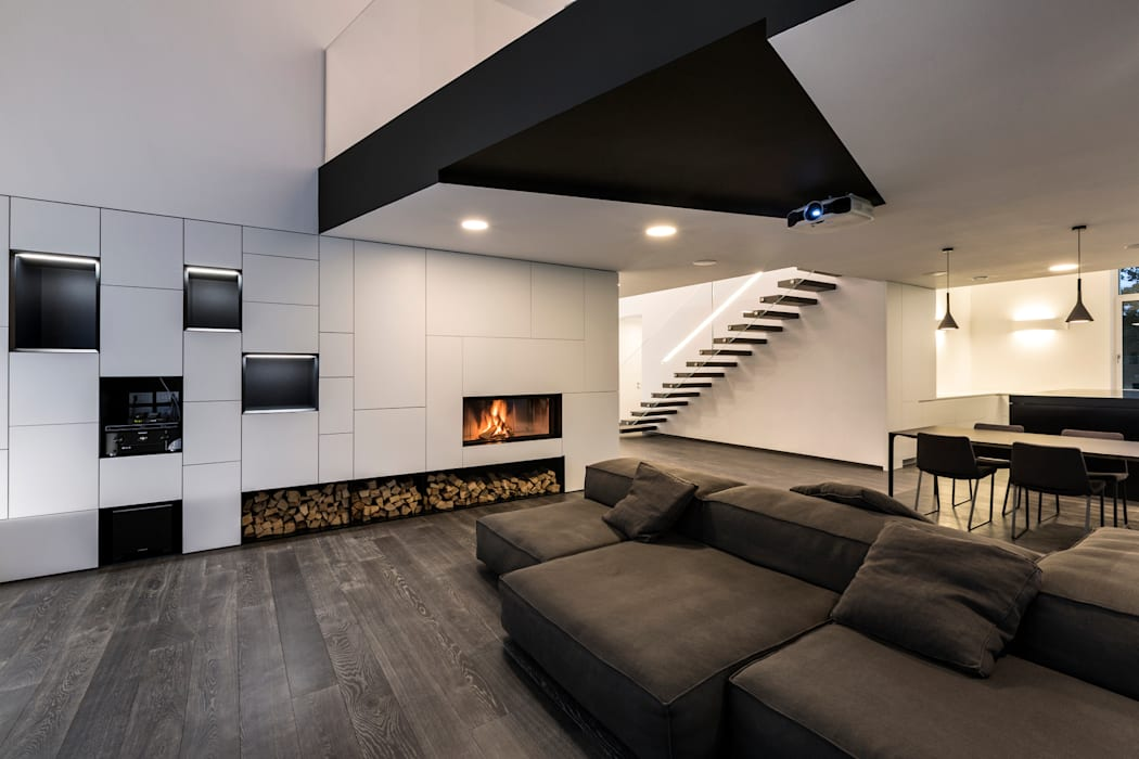 Casa LB: Soggiorno in stile in stile Moderno di Elia Falaschi Photographer