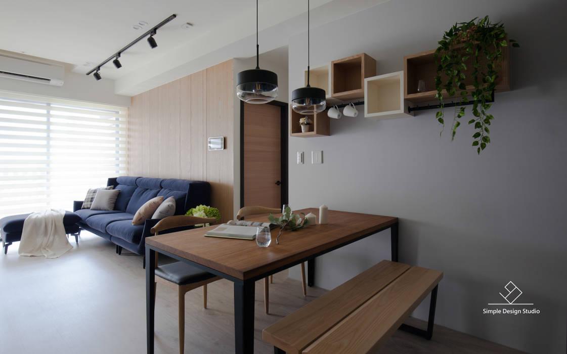 Comedores de estilo  de 極簡室內設計 Simple Design Studio,
