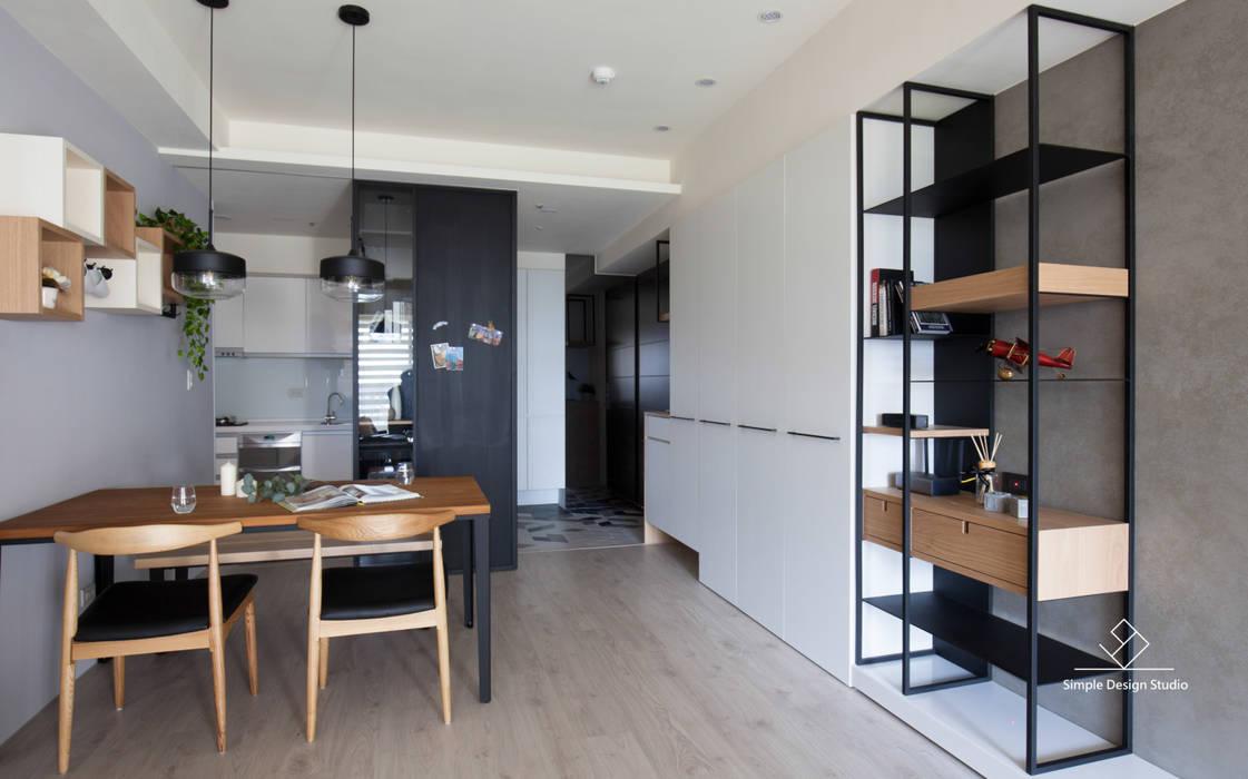 餐廳 Minimalist dining room by 極簡室內設計 Simple Design Studio Minimalist