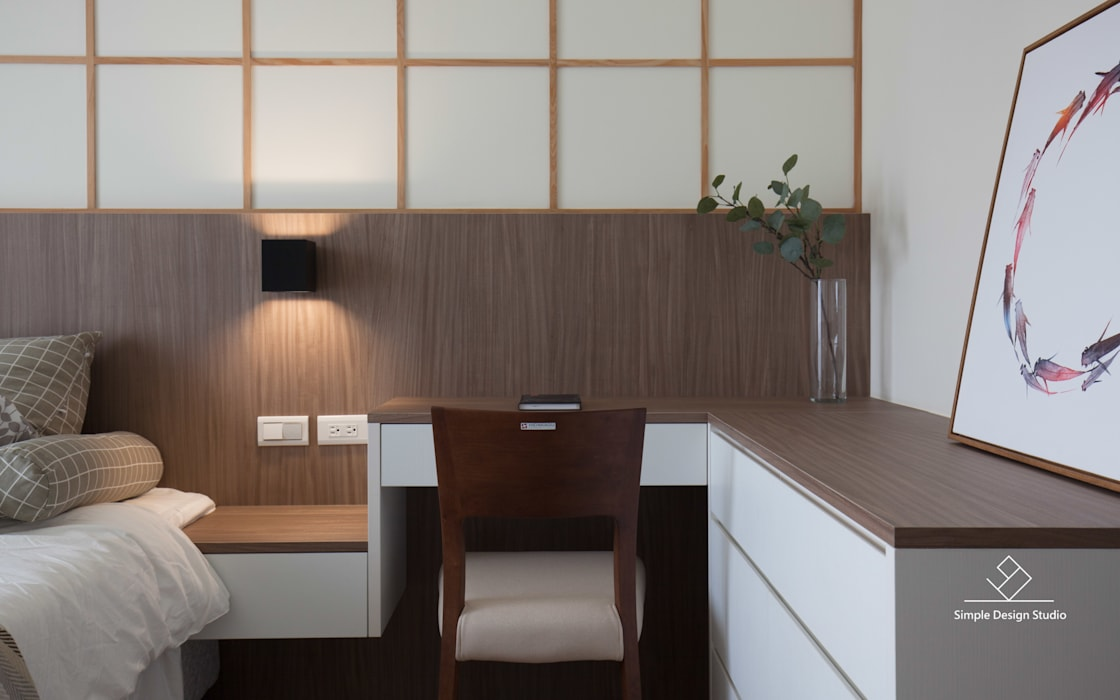 Cuartos de estilo  por 極簡室內設計 Simple Design Studio, Asiático