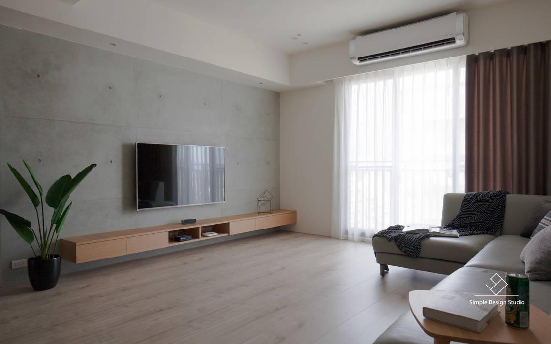 Salas de estilo escandinavo de 極簡室內設計 Simple Design Studio Escandinavo