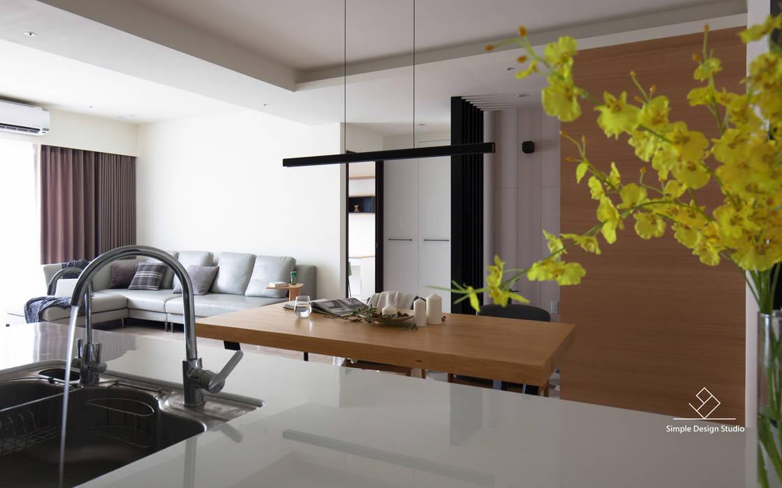 廚房:  廚房 by 極簡室內設計 Simple Design Studio