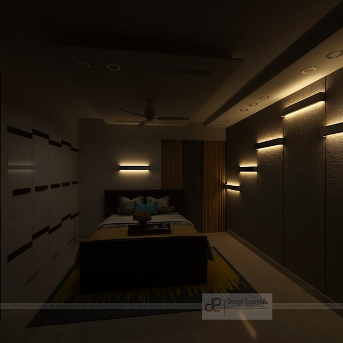 Residence at Dwarka Modern style bedroom by Design Essentials Modern