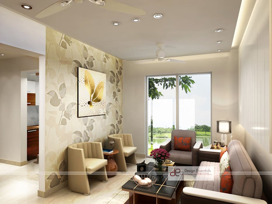Residence at Dwarka Modern living room by Design Essentials Modern