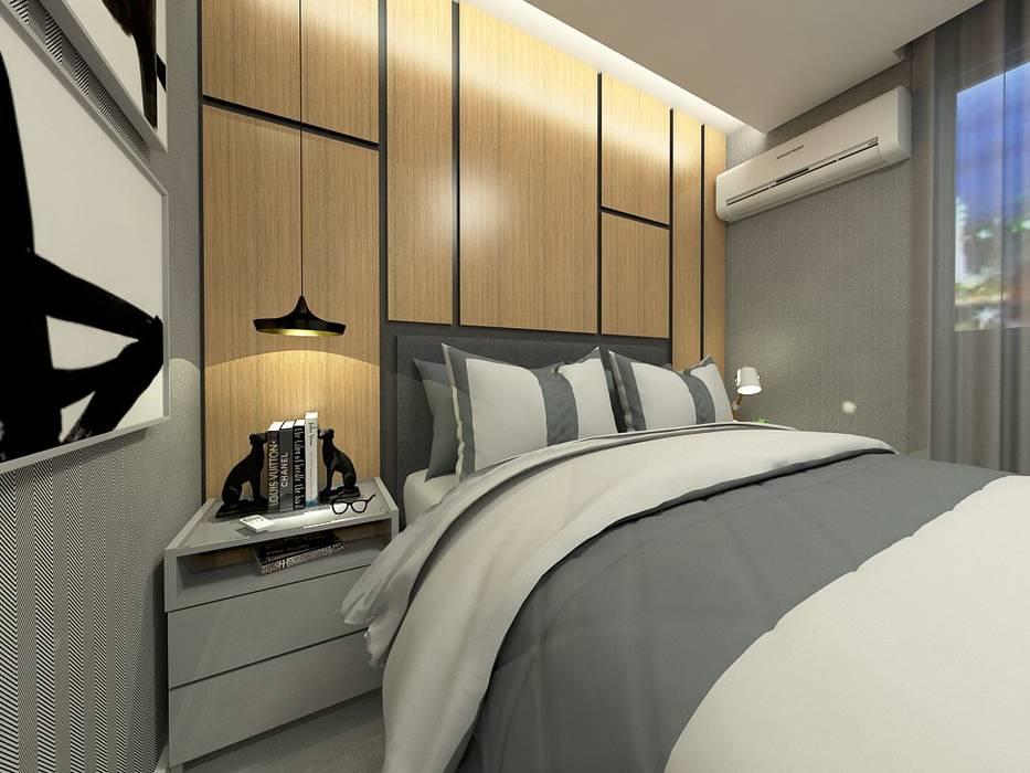 Chambre moderne par Letícia Saldanha Arquitetura Moderne