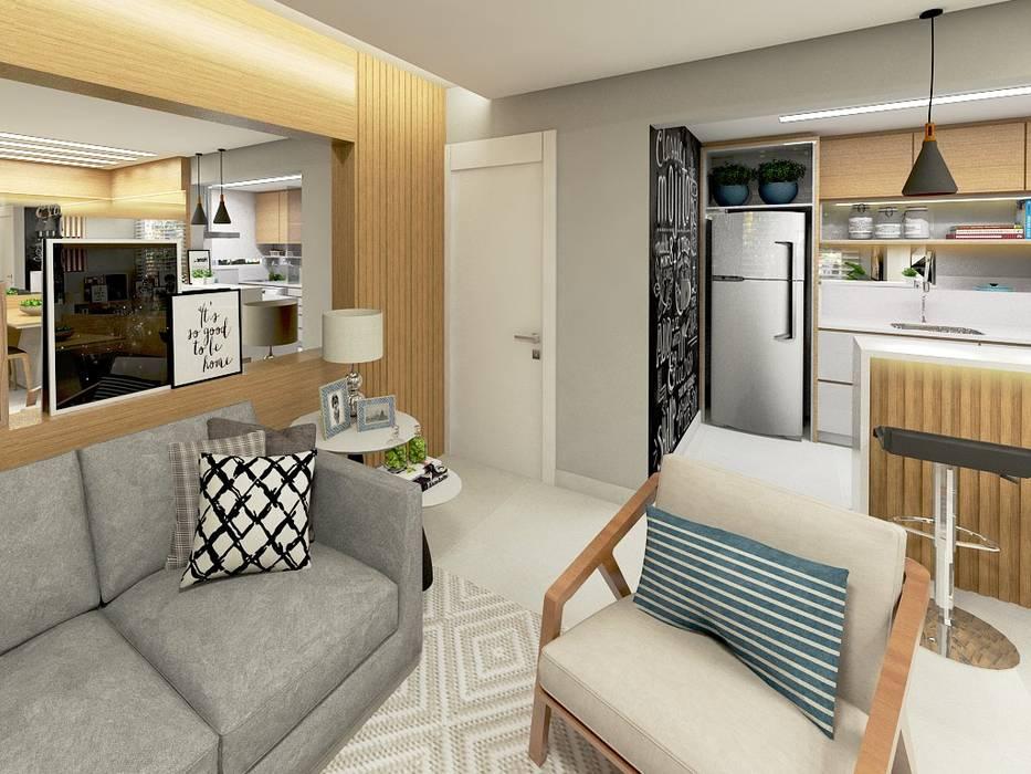 Apartamento Moderne Wohnzimmer von Letícia Saldanha Arquitetura Modern