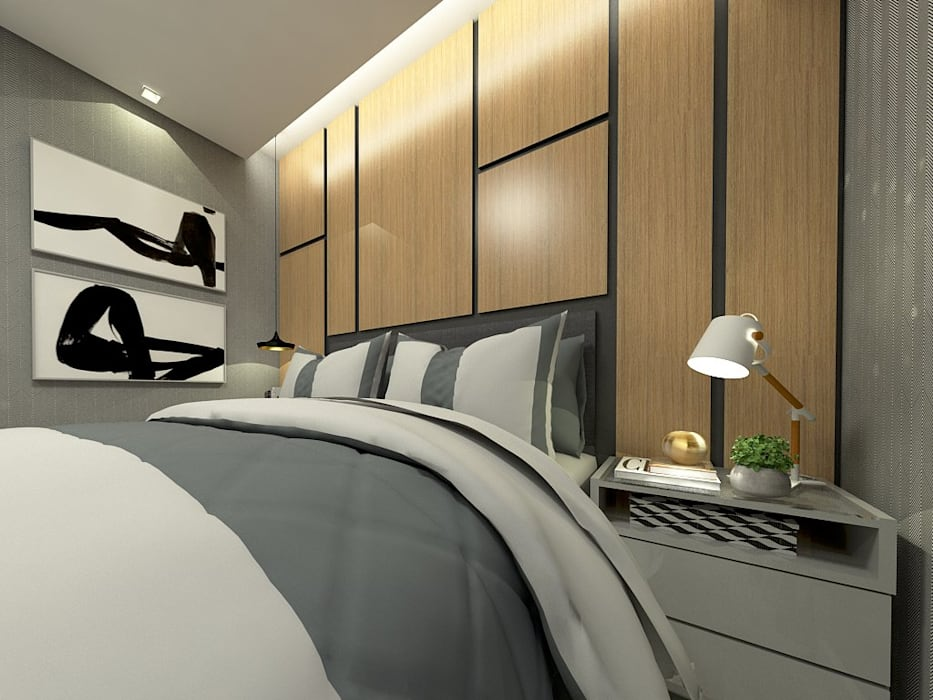 Salon de style  par Letícia Saldanha Arquitetura, Moderne