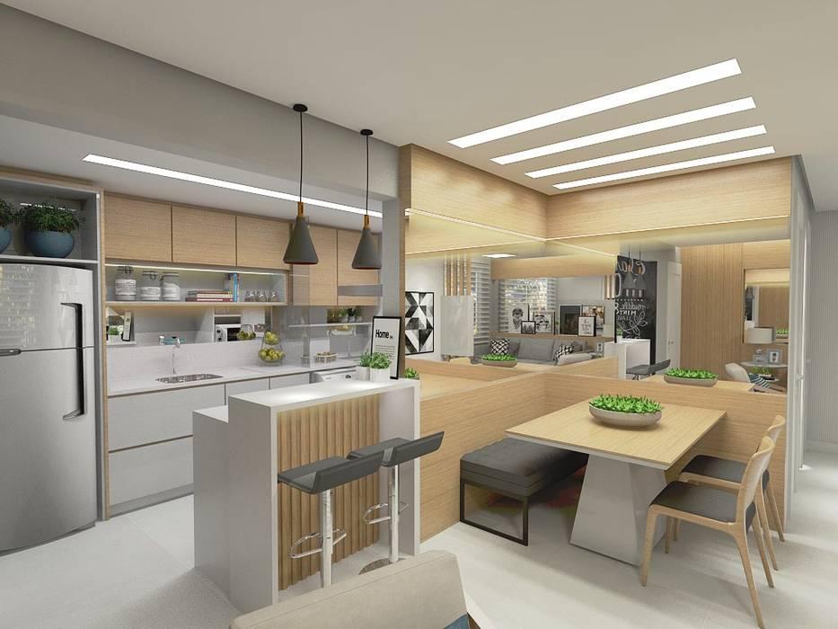 Cuisine de style  par Letícia Saldanha Arquitetura, Moderne